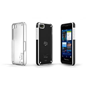 Poetic Atmosphere Case for BlackBerry Z10 Clear/White (3 Year Manufacturer Warranty From Poetic)