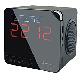 Ducasso Black Boy Speaker & FM Player with Alarm Clock