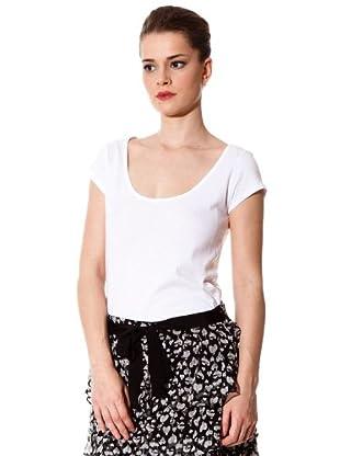 Naf Naf Camiseta Básica (blanco)