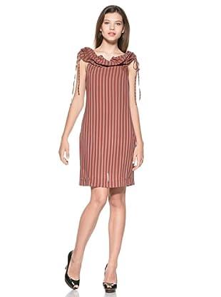 Eccentrica Vestido Aimee (Rojo/Gris)