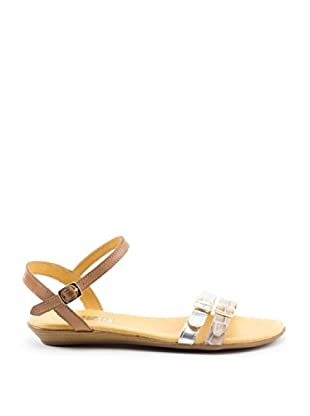 Misu Sandale Keil (Beige/Silber)