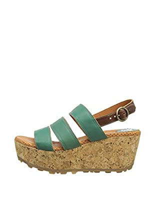 Fly London Sandalias Mest (Verde / Camel)