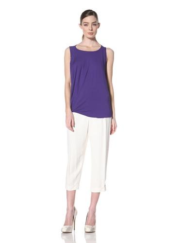 Zero + Maria Cornejo Women's Side Drape Top (Purple)