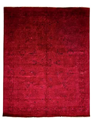 Darya Rugs Modern Oriental Rug, Raspberry, 8' x 10'
