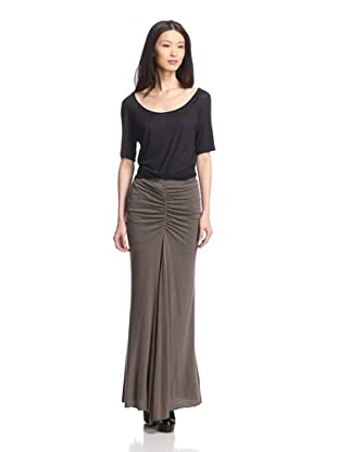 Rick Owens Lilies Women's Ruched Skirt (Dark Dust)