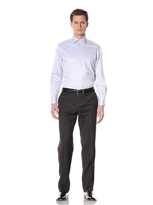 GF Ferré Men's Textured Stripe Dress Shirt