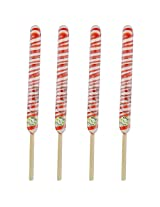 Kandee Springs Orange Crème (Pack of 4 Natural Colour Candy wrapped in Bamboo sticks)