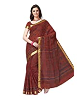 Suhanee Cotton Traditional Saree (Dulhan 1023 _Brown)