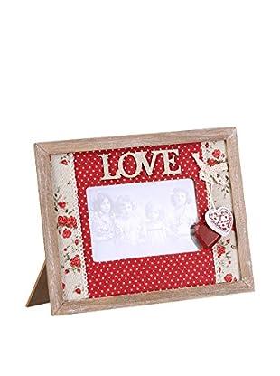 Romantic Style Marco De Fotos 10x15 Love Rojo / Blanco