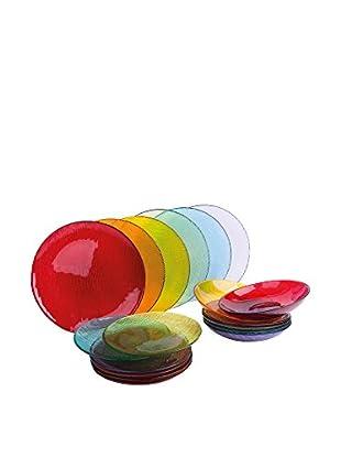 Molecuisine Geschirr 18er Set Scratch mehrfarbig 21x20x33 cm