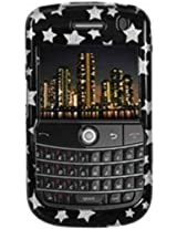 Amzer 83823 Stars Black Snap on Crystal Hard Case for BlackBerry Bold 9650, BlackBerry Tour 9630