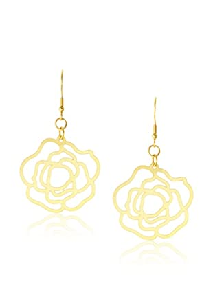 Chloe Collection By Liv Oliver Golden Cutout Drop Earrings
