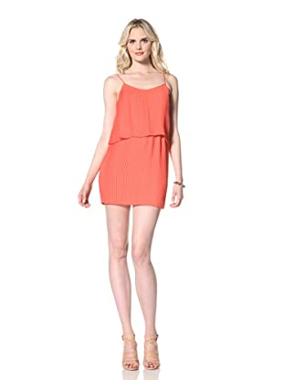 Parker Women's Pleated Dress (Coral)