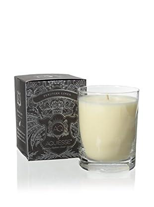 Aquiesse Foil Collection 10-Oz. Glass Candle, Peruvian Linen