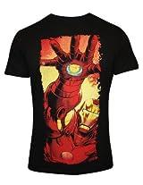 Iron Man Black Round Neck T Shirt