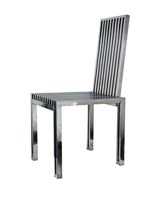Stilnovo Polished Stainless Steel Dining Chair, Silver