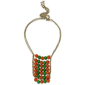 Daamak Jewellery Beaded Necklace - Orange Beads
