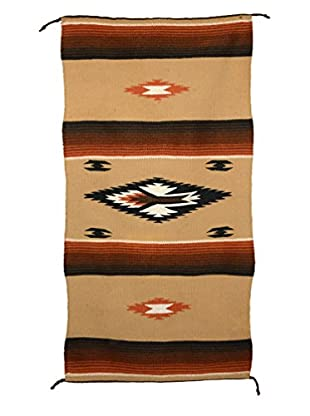 Uptown Down Previously Owned Brown & Orange Southwest-Style Throw/Rug