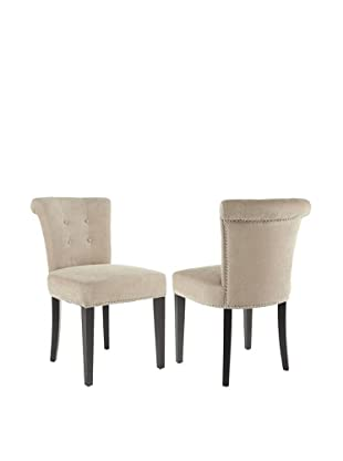 Safavieh Set of 2 Sinclaire Side Chairs, Wheat