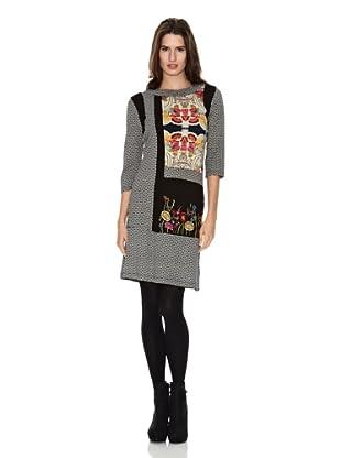 Peace & Love Vestido Patchwork (Gris / Rosa)