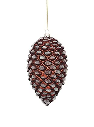 Winward Iced Pinecone Ornament, Brown White