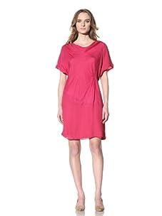 Chloé Women's Silk Dress with Twist Detail (Cyclamen)