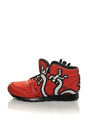 Reebok Zapatillas Deportivas Cl Lthr Mid Lux Techy (Rojo)