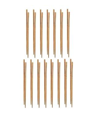 Helen Chen's Asian Set of 15 Silk Wrapped Chopsticks
