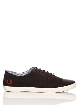 Fred Perry Zapatos Trenton Nubuck/Leather (Negro)