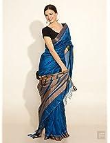 Handwoven Silk Leheriya Border Sari