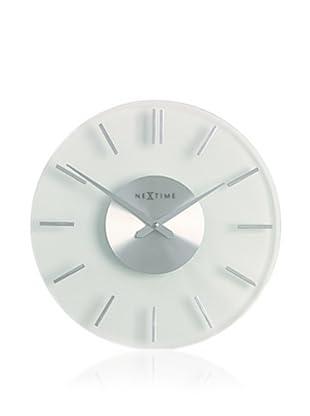 NeXtime Stripe Wall Clock (Silver/White)
