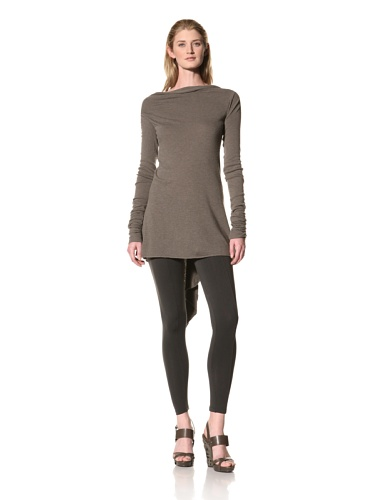 RICK OWENS Women's Long Sleeve Drapeback Tunic (Darkdust)