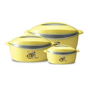 Milton Trumph Casserole Gift set, 3-Piece, Yellow (EC-THF-FTK-0027_Yellow)