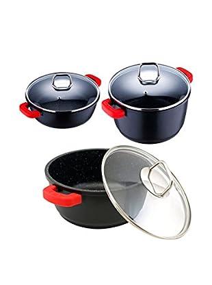 Bergner Batería de cocina 6 Piezas PK152 Negro
