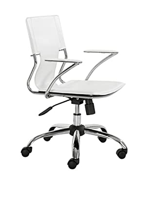 Zuo Trafico Office Chair, White