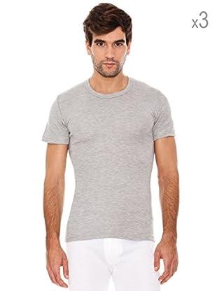 Abanderado Pack x 3 Camisetas Corta Fibra Invierno