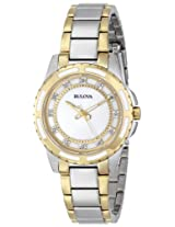 Bulova Diamond Analog Mother of Pearl Dial Women's Watch - 98P140