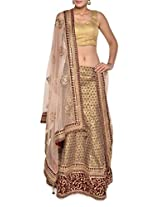 Luxe gold bridal lehenga set