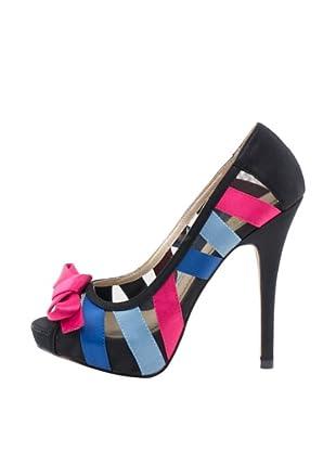 Rizzo Zapatos Top-Toe (Negro / Fucsia / Azul)