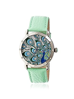 Bertha Women's BR3804 Genevieve Teal/Multicolor Leather Watch