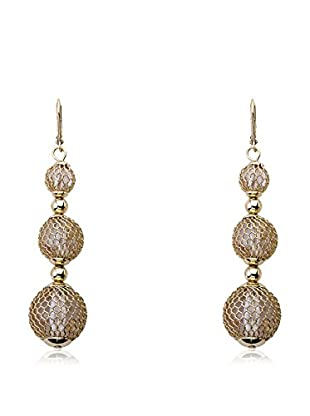 Riccova Country Chic Triple-Drop Mesh Over Lucite Earrings, Gold