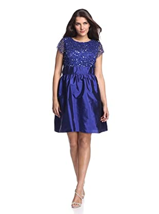 Adrianna Papell Plus Women's Sequin Dress (Amethyst)