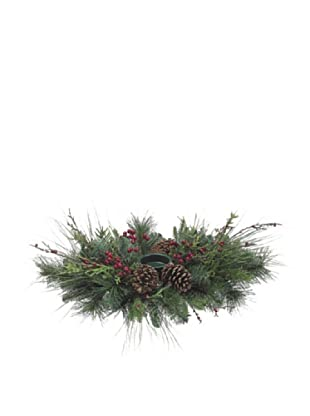 Pine, Berries & Cone Centerpiece with Candleholder