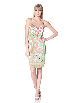 Hale Bob Women's Printed Sweetheart Dress (Coral)