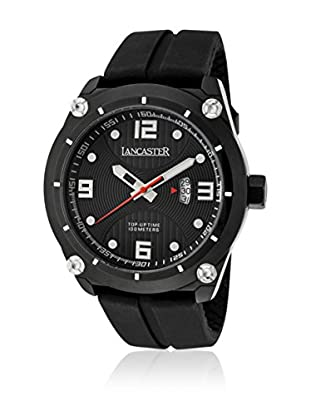 Lancaster Quarzuhr Man Top Up Time Tempo Black 47.0 mm
