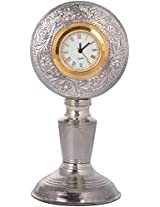 OJB SELLER Silver-Plated Table Clock (OJB_SLVR_TBLWATCH_29, 5 cm x 5 cm)