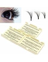 Black Make up False Eyelash Individual Eye Lashes Cluster Kit (10MM)