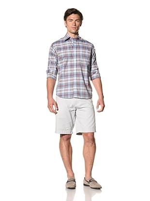 Haspel Men's Plaid Shirt (Blue Plaid)