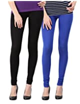 Blackmilan Women's Leggings (ZBMWL-1004-Black-Rblue_Multi-Coloured_X-Large)
