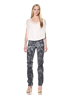 D&G by Dolce & Gabbana Women's Static Washed Jean (Grey)